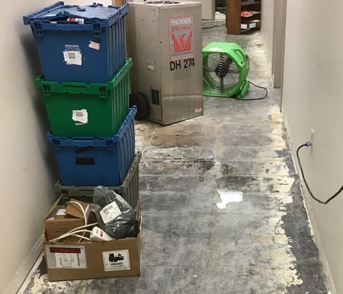 Damage to Office Space of Warehouse  After